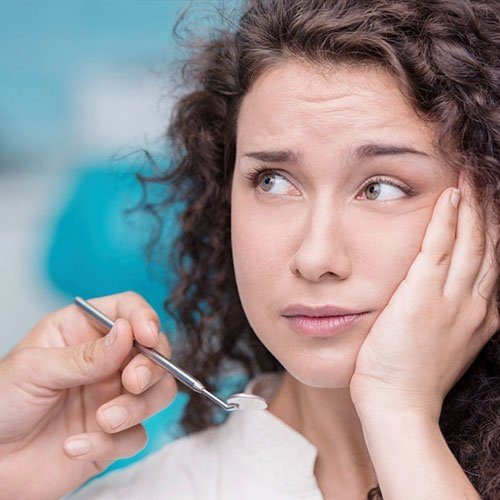 Symptoms or signs of tooth pain